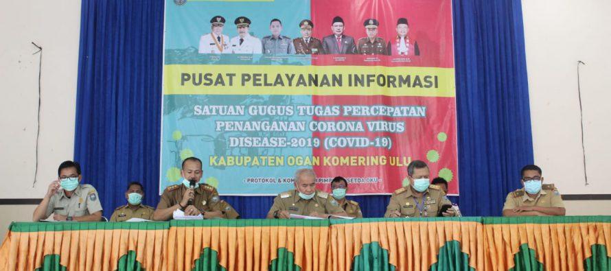 Antisipasi Wabah Virus Corona (Covid-19), Bupati OKU Drs. H. Kuryana Azis sampaikan Konferensi Pers