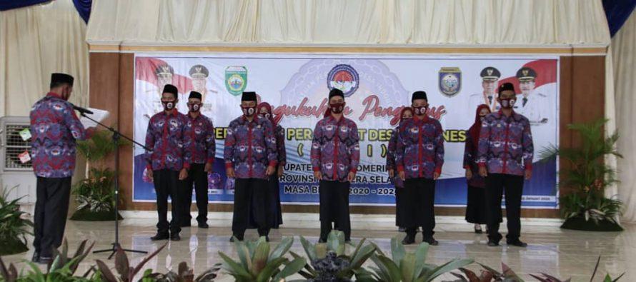 Bupati OKU Drs. H. Kuryana Azis Menghadiri Acara Pengukuhan Pengurus Persatuan Perangkat Desa Indonesia (PPDI) Kabupaten OKU Masa Bhakti 2020-2025