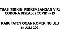 Perkembangan Covid-19 di Kab. OKU per Tanggal 28 Juli 2021