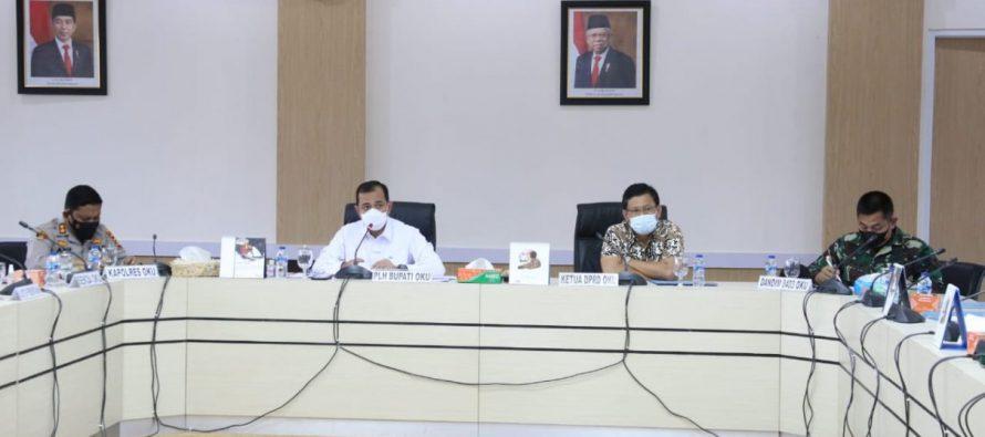 Plh Bupati OKU Memimpin Rapat Koordinasi Pencegahan dan Pengendalian Peningkatan Kasus Konfirmasi Positif Covid-19 dan Pembahasan Pelaksanaan Hari Raya Idul Adha 1442 H